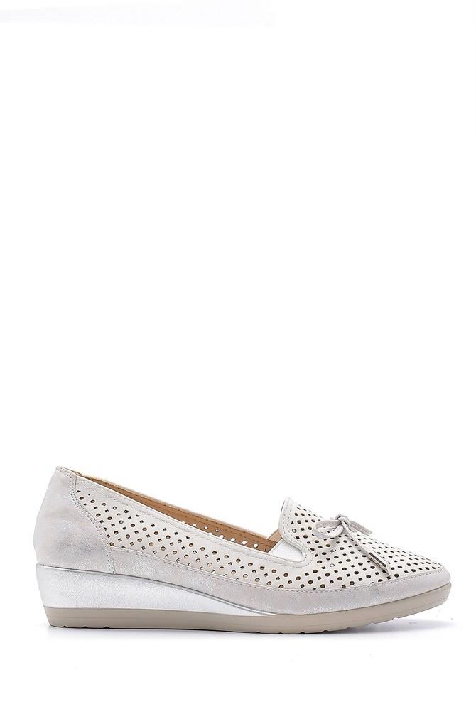 Beyaz Kadın Yüksek Tabanlı Ayakkabı 5638192174