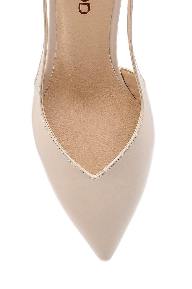 5638163225 Kadın Deri Topuklu Ayakkabı
