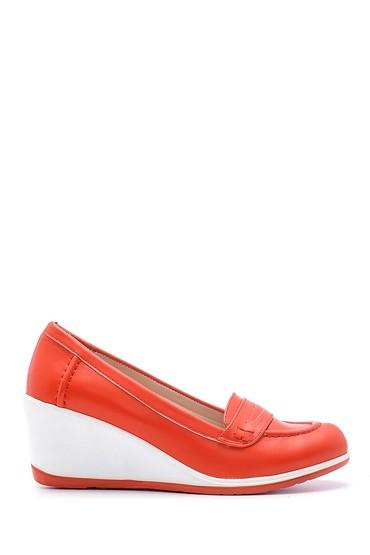 Kırmızı Kadın Dolgu Topuklu Ayakkabı 5638121661