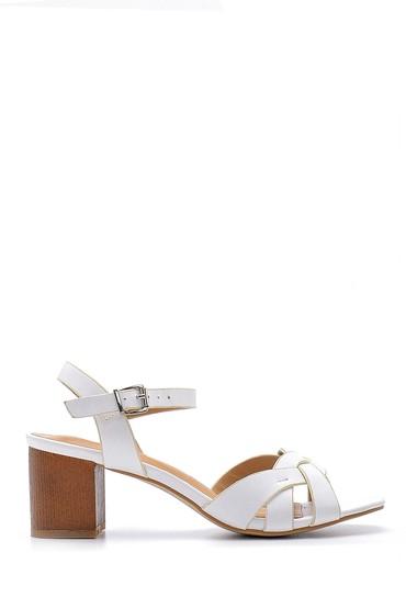 Beyaz Kadın Topuklu Sandalet 5638125171