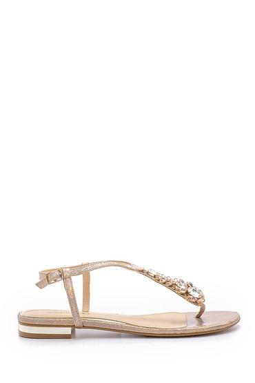 Pembe Kadın Taşlı Sandalet 5638125475