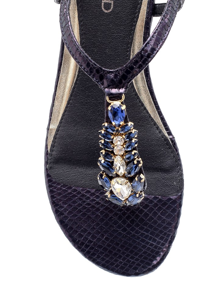 5638125473 Kadın Taşlı Sandalet