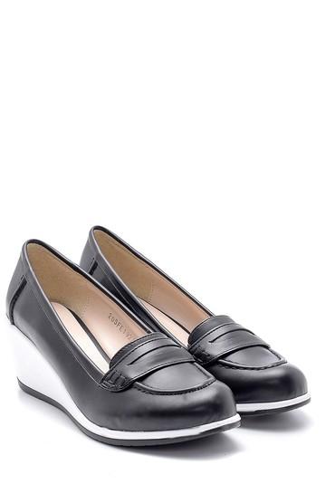 Siyah Kadın Dolgu Topuklu Ayakkabı 5638121659
