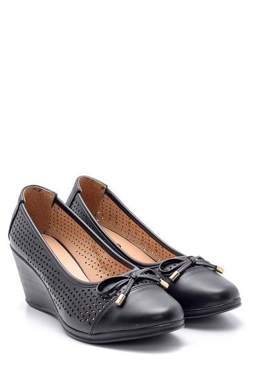 Siyah Kadın Dolgu Topuklu Ayakkabı 5638121728