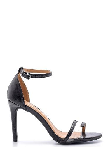 Siyah Kadın Metalik Topuklu Ayakkabı 5638125186