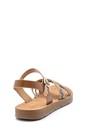 5638132427 Kadın Yılan Derisi Desenli Sandalet