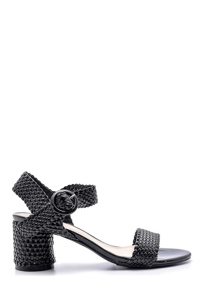 Siyah Kadın Topuklu Sandalet 5638128923