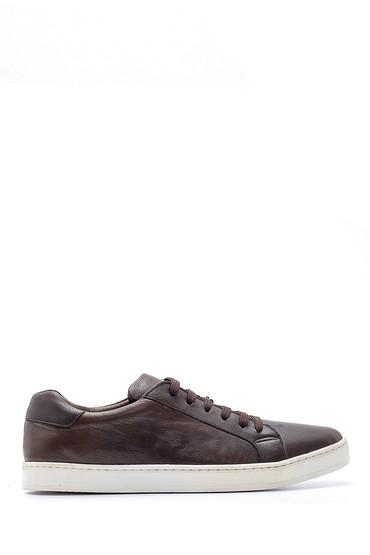 Kahverengi Erkek Deri Sneaker 5638159211