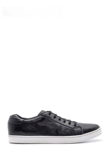Siyah Erkek Deri Sneaker 5638159213