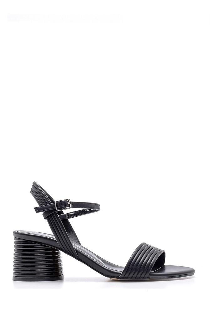 Siyah Kadın Topuklu Sandalet 5638155555