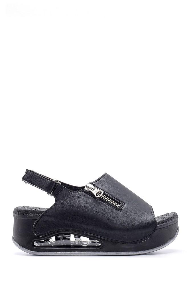 Siyah Kadın Yüksek Tabanlı Sandalet 5638160367