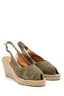 5638162187 Kadın Süet Dolgu Topuklu Ayakkabı