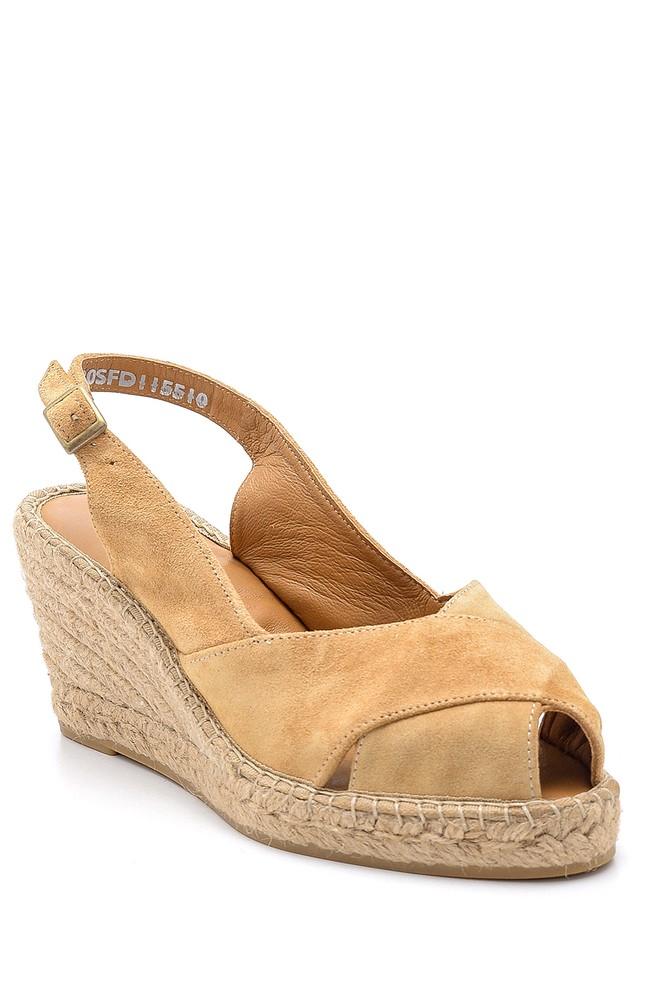 5638162189 Kadın Süet Dolgu Topuklu Ayakkabı