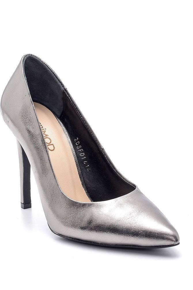 5638163430 Kadın Metalik Stiletto