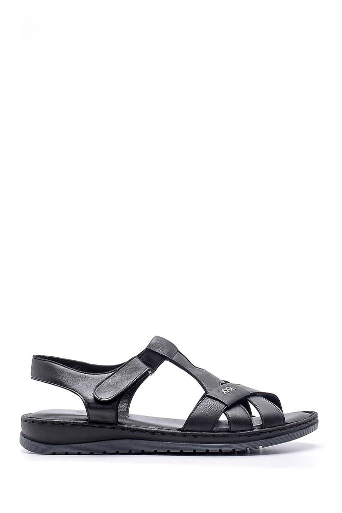 Siyah Kadın Deri Sandalet 5638162250