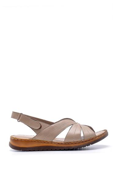 Vizon Kadın Deri Sandalet 5638162261