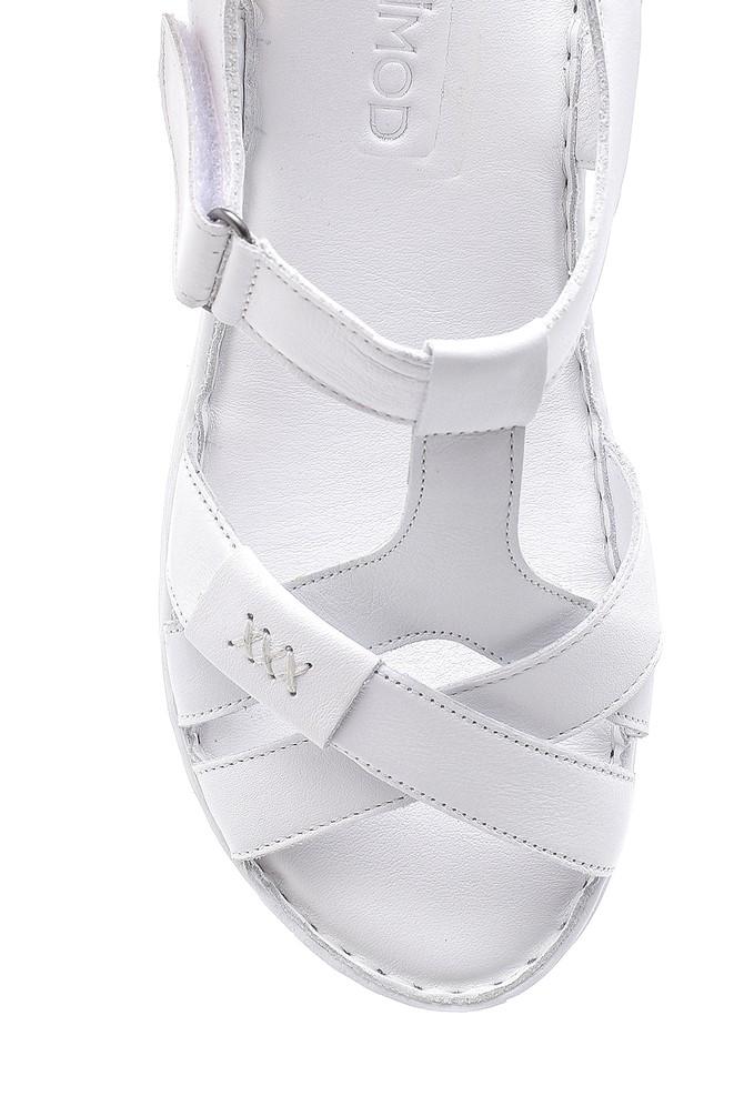 5638162256 Kadın Deri Sandalet