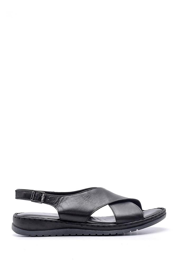Siyah Kadın Deri Sandalet 5638162292