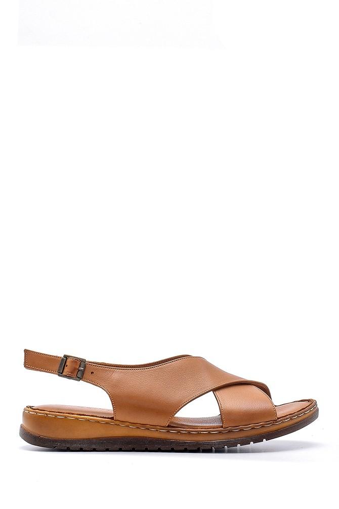 Kahverengi Kadın Deri Sandalet 5638162282