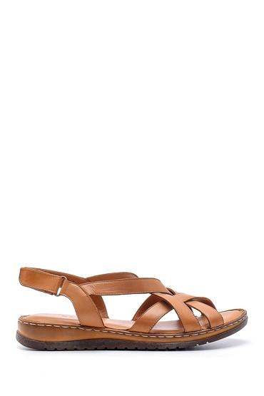 Kahverengi Kadın Deri Sandalet 5638162302