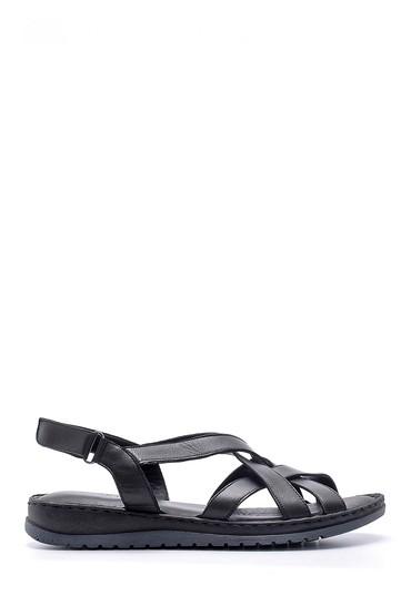 Siyah Kadın Deri Sandalet 5638162312