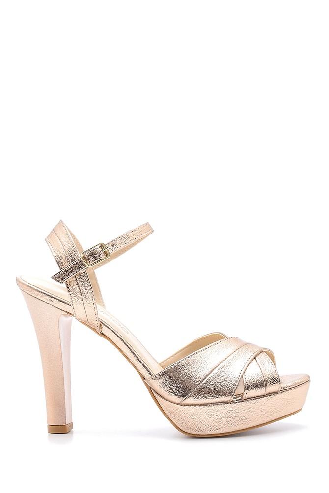 Pembe Kadın Topuklu Sandalet 5638175362