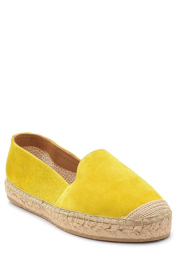 Sarı Kadın Süet Espadril 5638178677