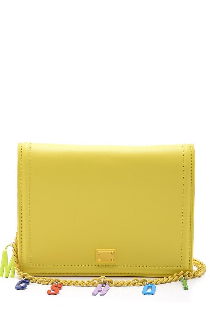 Sarı Kadın Aksesuar Detaylı Çanta 5638150310