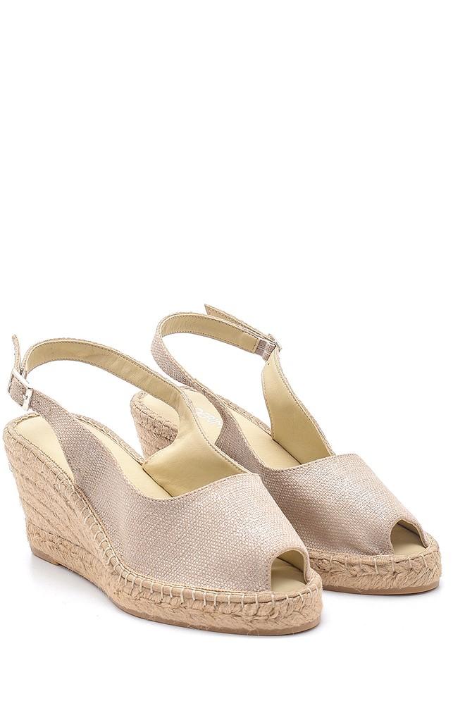 5638184083 Kadın Dolgu Topuklu Sandalet