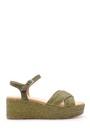 5638192025 Kadın Hasır Detaylı Sandalet