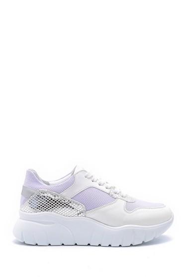Beyaz Kadın Gümüş Detaylı Sneaker 5638159588