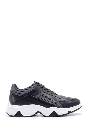 Siyah Erkek Deri Sneaker 5638143765