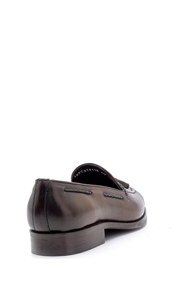 5638155650 Erkek Deri Püskül Detaylı Loafer