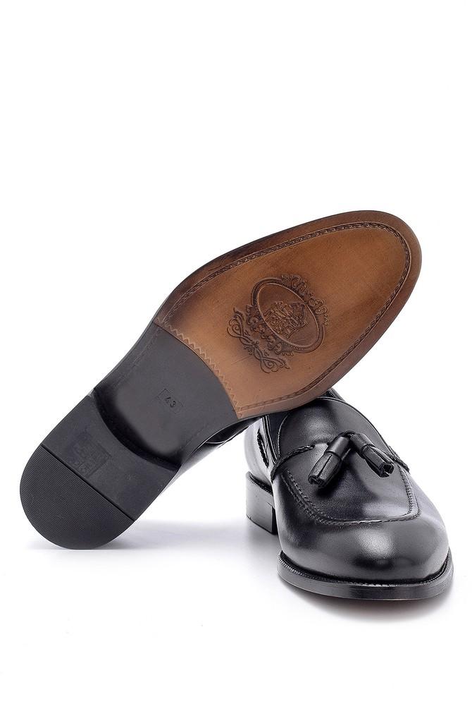 5638155652 Erkek Deri Püskül Detaylı Loafer