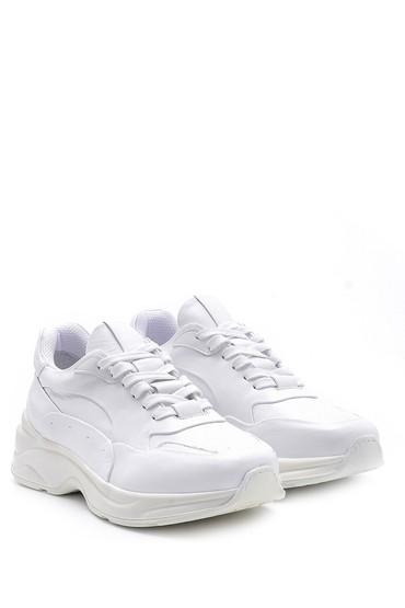 Beyaz Erkek Deri Sneaker 5638157926