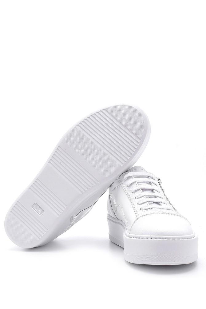 5638158048 Erkek Deri Fermuar Detaylı Sneaker