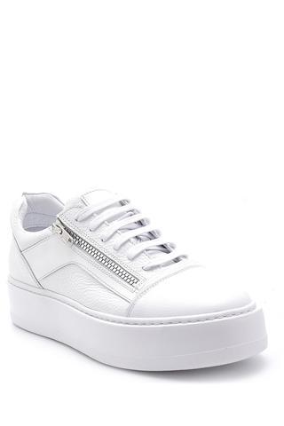 Erkek Deri Fermuar Detaylı Sneaker