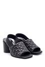5638161133 Kadın Deri Kalın Topuklu Sandalet