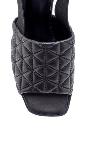Kadın Deri Kalın Topuklu Sandalet