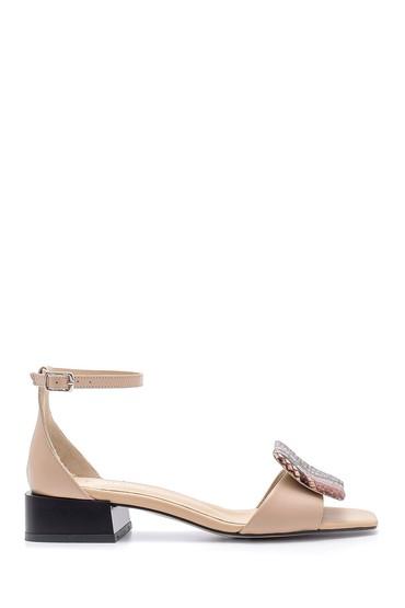 Kahverengi Kadın Deri Sandalet 5638161730
