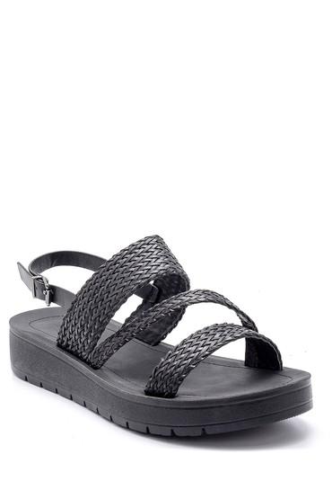 Siyah Kadın Sandalet 5638132479