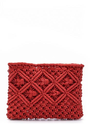 Kırmızı Kadın Hasır Portföy 5638158337