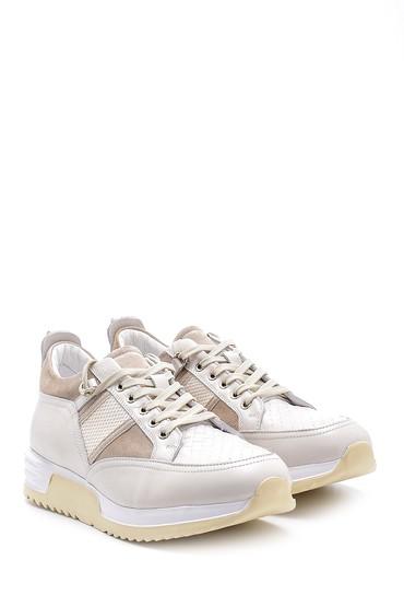 Beyaz Erkek Deri Sneaker 5638143673