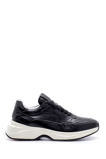Siyah Erkek Deri Sneaker 5638157924