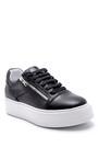 5638158030 Erkek Deri Fermuar Detaylı Sneaker