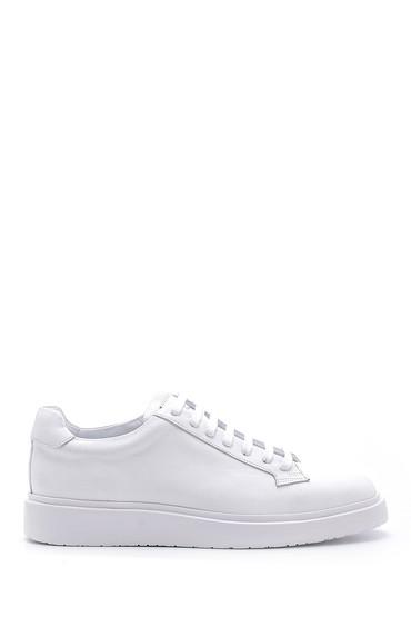 Beyaz Erkek Deri Sneaker 5638158051