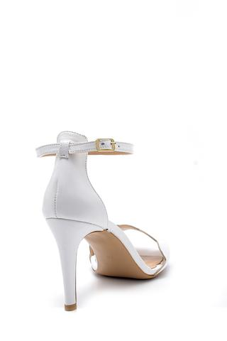 Kadın Deri Topuklu Sandalet
