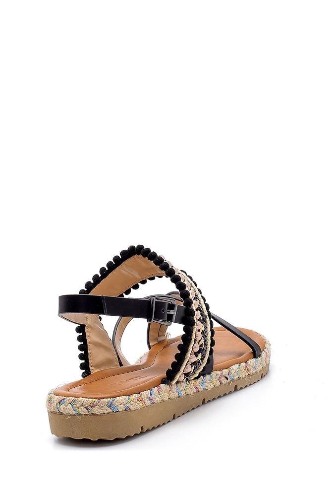 5638126077 Kadın İşlemeli Sandalet