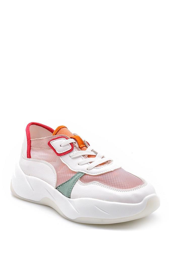 5638128718 Kadın Şeffaf Detaylı Sneaker