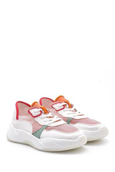 Pembe Kadın Şeffaf Detaylı Sneaker 5638128718